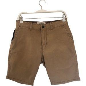 Quiksilver  Slim Fit Size 30 Mens/ Boys  Shorts - Camel Colour